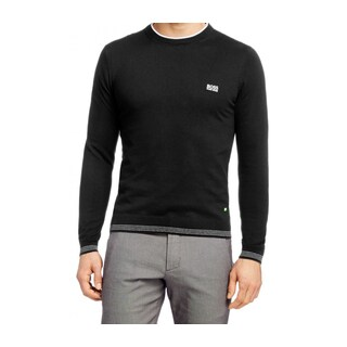 Hugo Boss Rime PS Black Cotton Crewneck Sweater