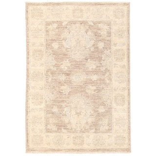 Herat Oriental Afghan Hand-knotted Vegetable Dye Oushak Wool Rug (2'2 x 3'1)