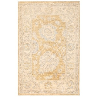 Herat Oriental Afghan Hand-knotted Vegetable Dye Oushak Wool Rug (2'2 x 3'3)