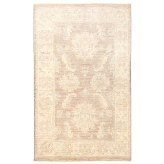 Herat Oriental Afghan Hand-knotted Vegetable Dye Oushak Wool Rug (2' x 3'4)