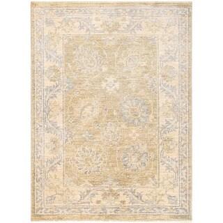 Herat Oriental Afghan Hand-knotted Vegetable Dye Oushak Wool Rug (2'2 x 2'11)