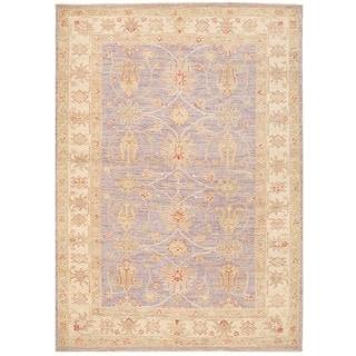 Herat Oriental Afghan Hand-knotted Vegetable Dye Oushak Wool Rug (4'1 x 5'8)
