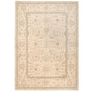 Herat Oriental Afghan Hand-knotted Vegetable Dye Oushak Wool Rug (5'1 x 6'11)