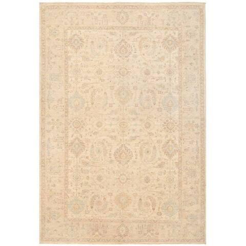 Handmade Vegetable Dye Oushak Wool Rug (Afghanistan) - 6' x 8'9
