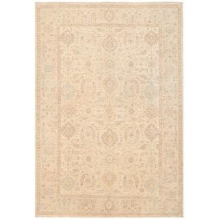 Herat Oriental Afghan Hand-knotted Vegetable Dye Oushak Wool Rug (6' x 8'9)