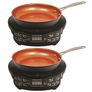 NuWave PIC Compact Precision Induction Cooktop w/ 9-inch Hard Anodized Fry Pan (2-Pack Bundle)