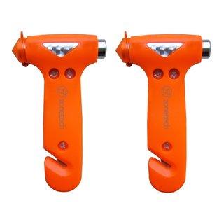 Zone Tech Seatbelt Cutter Window Breaker Emergency Escape Hammer Tool (Set of 2)