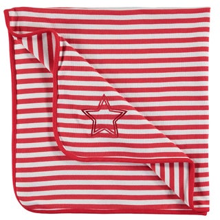 Rockin' Baby Warmin' Red/White Cotton 40-inch x 40-inch Blanket