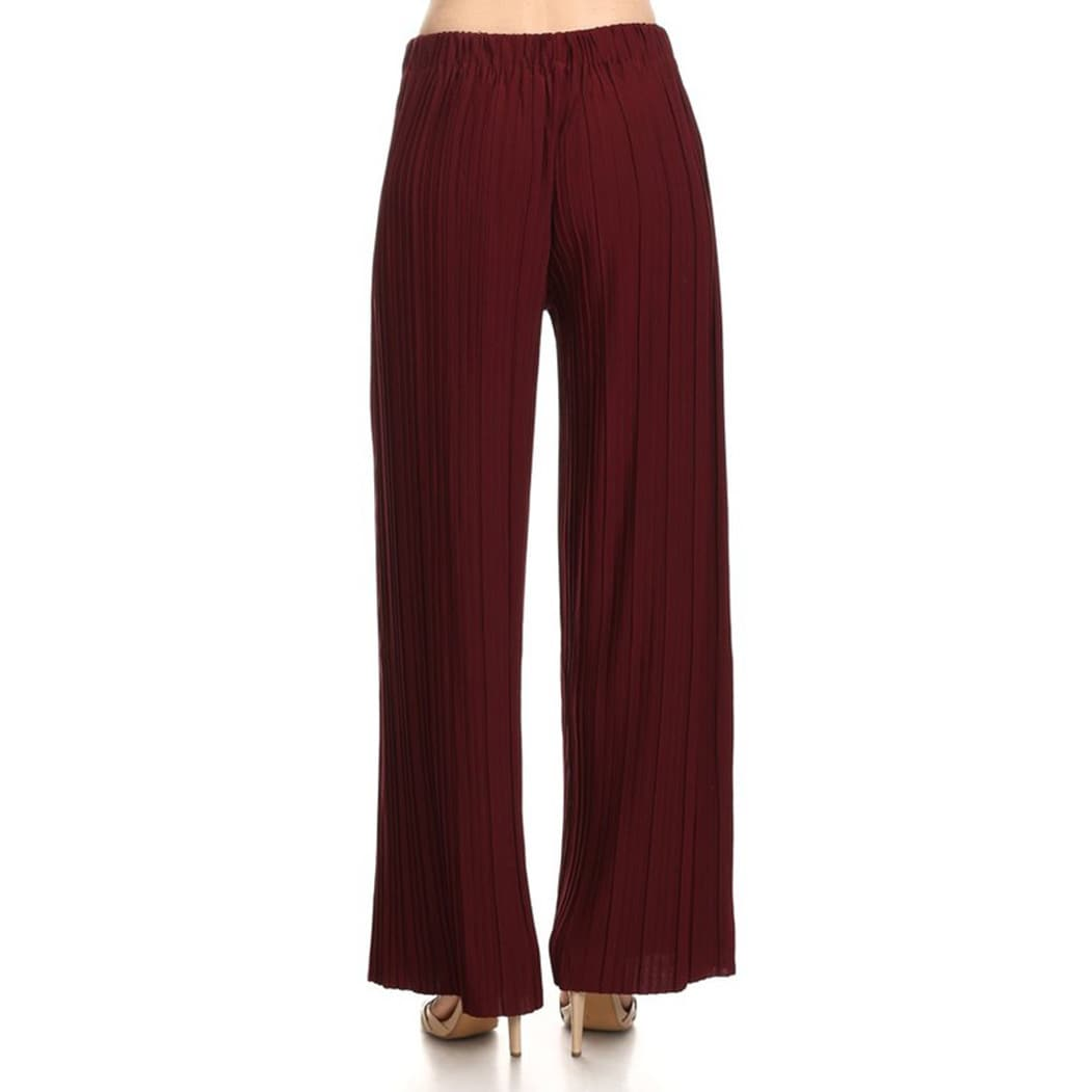 HENWERD Womens High Waist Pleated Loose Pants Casual Comfortable Wide Leg Trousers