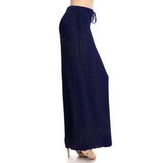Jed Women's Elastic Drawstring Waist Pleated Soft Comfortable Wide-leg Pants