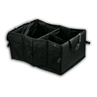Zone Tech Black Fabric Multipurpose Cargo Trunk Storage Bag