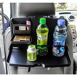 Zone Tech Black Car Snack Tray