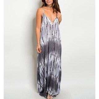 Jed Women's Rayon Spaghetti-strap Tie-dye Maxi Dress