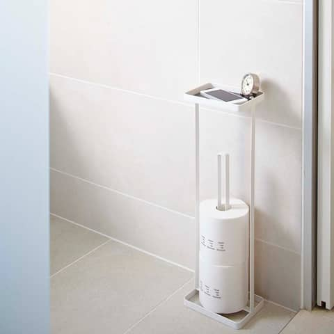 Tower Toilet Paper Stand with Tray by Yamazaki Home