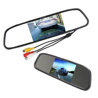Zone Tech 4.3-inch TFT Car Auto LCD Screen Rear Monitor View Rearview DVD AV Mirror