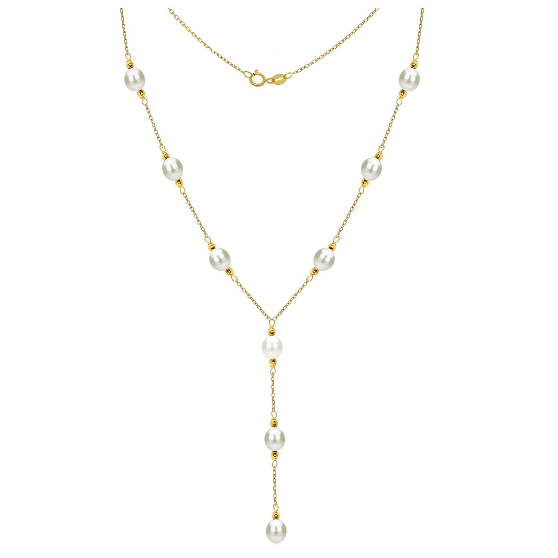 New 8-9mm White fresh water Cultured Pearl women/'s jewelry Necklace long 18 inch