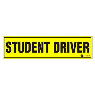Zone Tech Student Driver Bumper Safety Sign Magnet
