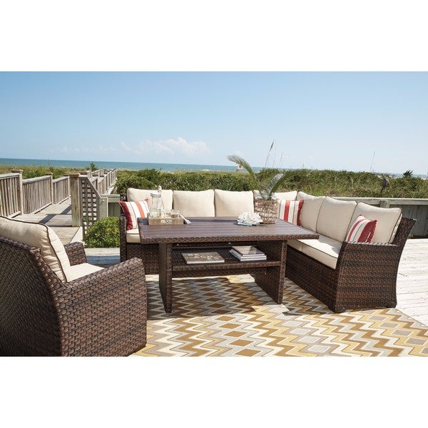 Nearest Ashley Furniture Store: Shop Signature Design By Ashley Salceda Brown Outdoor Sofa