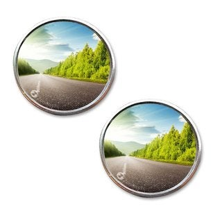 Zone Tech Stick-on Aluminum Border 2-inch Thin Car Rearview Blind Spot Mirrors (Set of 2)