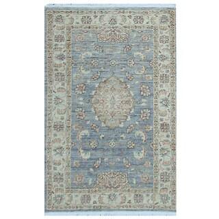 Herat Oriental Afghan Hand-knotted Vegetable Dye Oushak Wool Rug (3'3 x 5')