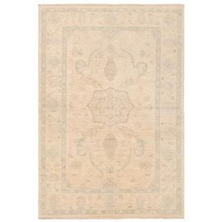 Herat Oriental Afghan Hand-knotted Vegetable Dye Tabriz Wool Rug (3'2 x 4'8)