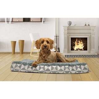 FurHaven Ultra Plush Kilim-patterned Deluxe Orthopedic Dog Pet Bed