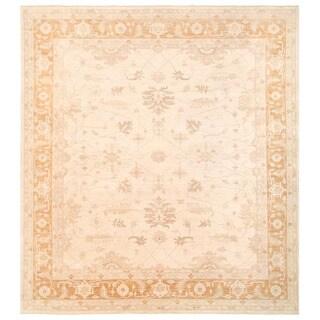 Herat Oriental Afghan Hand-knotted Vegetable Dye Oushak Wool Rug (11'9 x 13') - 11'9 x 13'