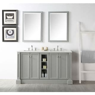 "Legion Furniture 60"" Cool Grey Single Sink Vanity with (2) matching Mirrors"