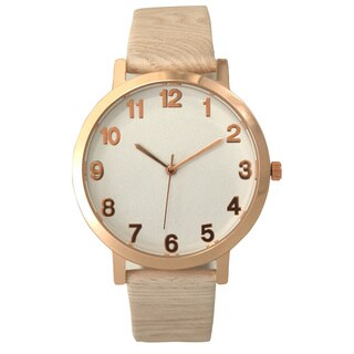 Olivia Pratt Women's Leather Analog Fashion Watch