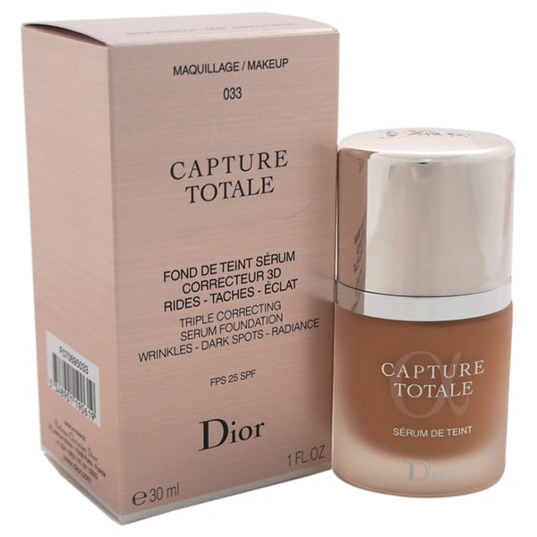 shop dior capture totale triple correcting serum foundation spf 25 033 apricot beige free. Black Bedroom Furniture Sets. Home Design Ideas