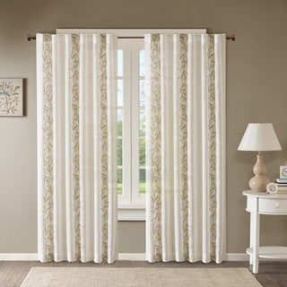 Madison Park Ayla Texture Printed Window Curtain Panel
