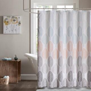 Madison Park Essentials Pelham Bay Printed Shower Curtain - 2 Color Option