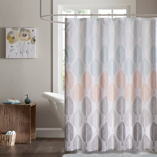 Madison Park Essentials Pelham Bay Printed Shower Curtain - 2 Color Option