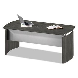 Mayline Medina Series Laminate Grey Steel Curved Desk Base (72-inch wide x 36-inch deep x 29 1/2-inch high)