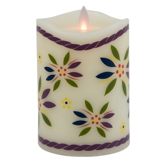 Temp-tations by Tara Mystique Paraffin Wax 5-inch Old World Flameless Pillar Candle
