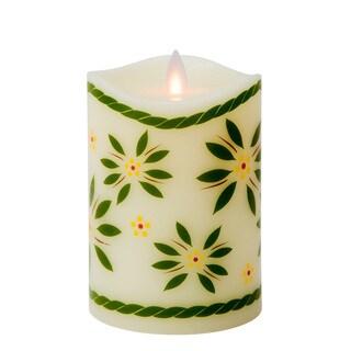 Temp-tations by Tara Mystique Paraffin Wax 5-inch Old World Flameless Pillar Candle