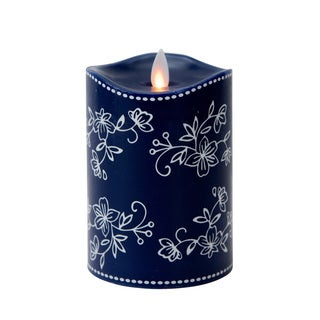 Tara Mystique Temp-tations 5-inch Floral Lace Flameless Pillar Candle