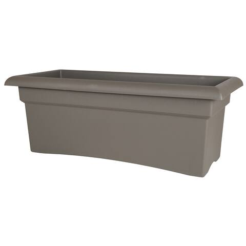 Bloem Peppercorn 26-inch Veranda Deck Box Planter