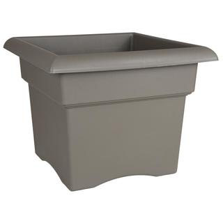 Bloem Veranda Deck Box Planter 18-inch Peppercorn