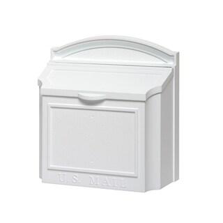 White Hall White Aluminium Large Locking Wall Mailbox