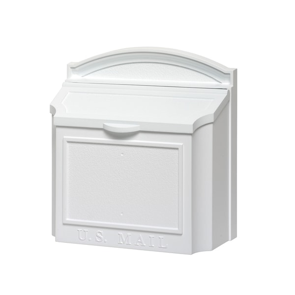 White Hall White Aluminium Large Locking Wall Mailbox