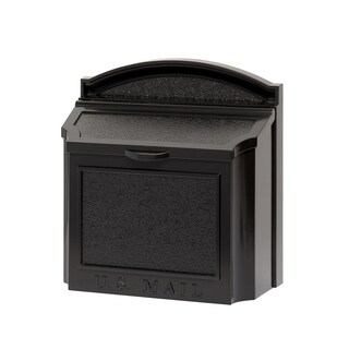 Whitehall Black Aluminum Alloy Wall Mailbox