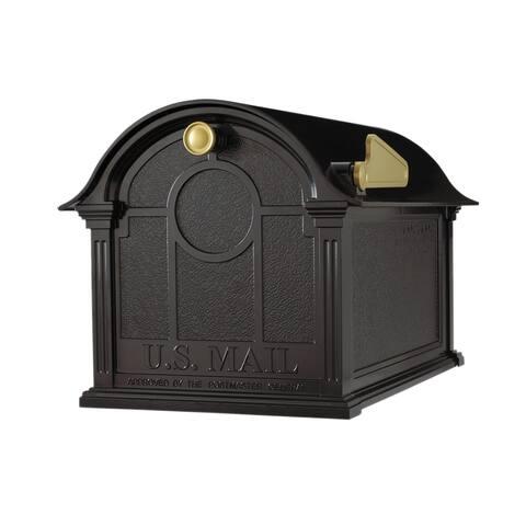 White Hall Balmoral Black Aluminum Mailbox