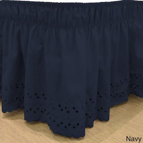 Copper Grove Falcata Wrap-Around Eyelet Ruffled Bed Skirt