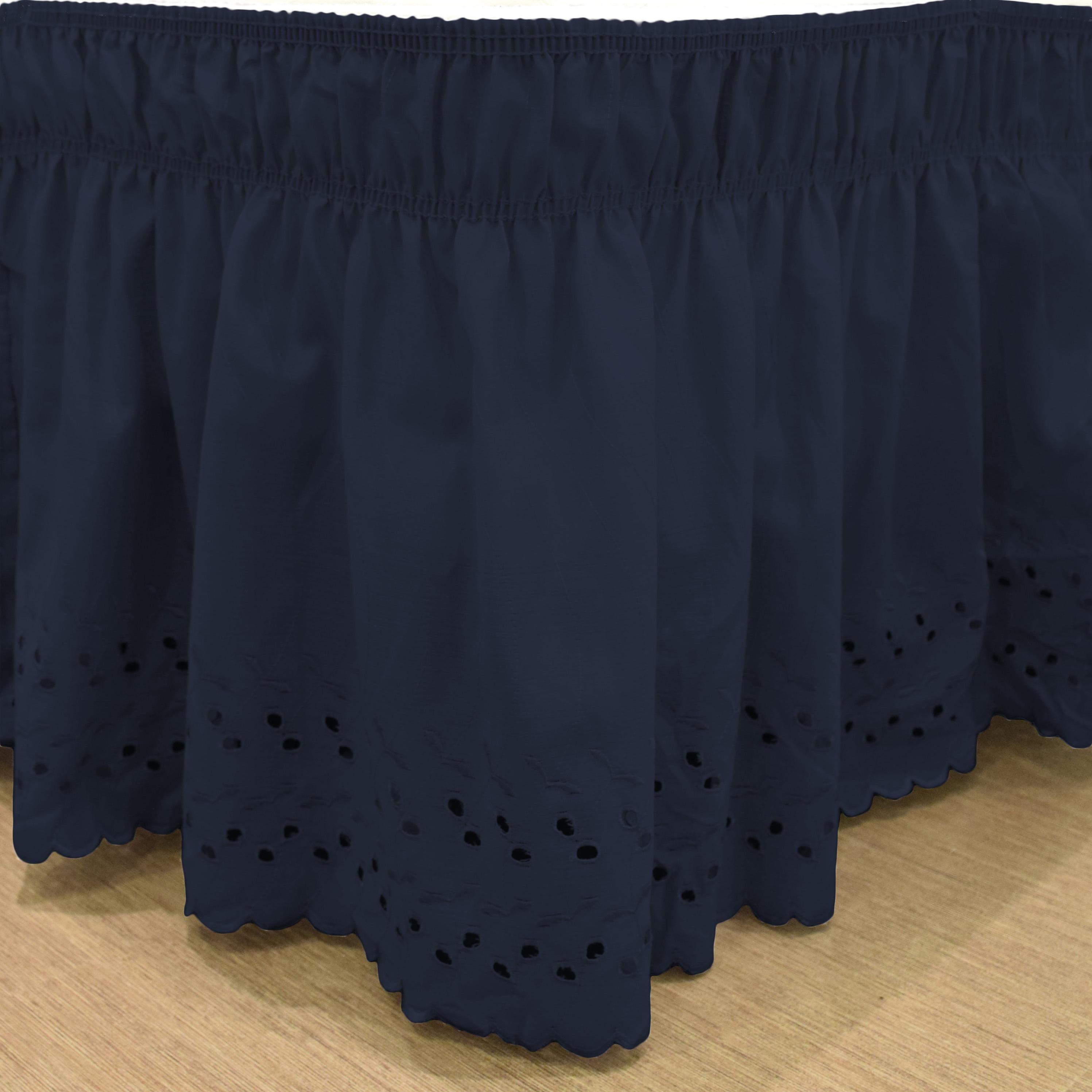 Gracewood Hollow Millum Wrap-Around Eyelet Ruffled Bed Skirt