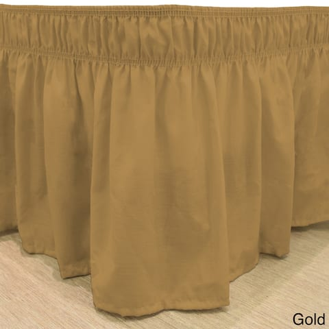 Copper Grove Fineshade Wrap Around Solid Ruffled Bed Skirt