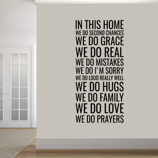"In this Home' Wall Decal (28"" wide x 60"" tall)"