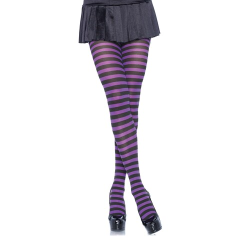 Leg Avenue Plus-size Multicolor Nylon Stripe Tights