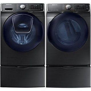 Samsung Black 27-inch Front Load Washer and Gas Dryer