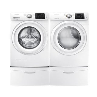 Samsung White Front Load Washer with Electric Dryer